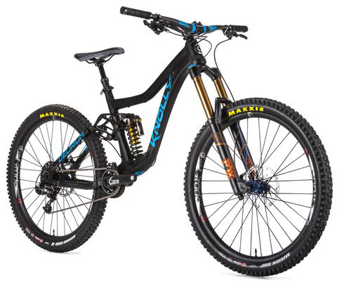 DELIRIUM COMPLETE BIKE-SUPREME LEADER (X01) BUILD KIT - Anodized Black w blue graphics